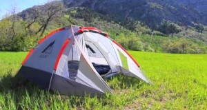 Aesent A camping tent with an inflatable base