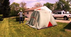 REI Base Camp 6 tent setup